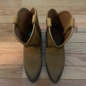 Frye ankle cowboy boots